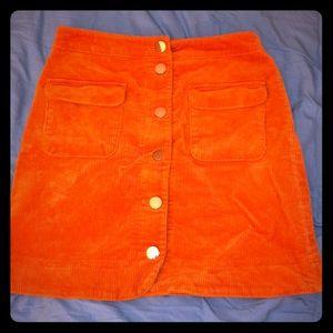LOFT Golden yellow skirt 4
